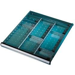 Přihrádky pro kryty a šuplíky, pro výšku clony 100-300 mm, Š x H x v = 208 x 2 x 82 mm Manuflex ZB3044, rozměry:(d x š x v) 82 x 208 x 2 mm
