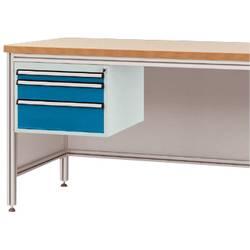 Manuflex ZB4675.0002 Pouzdro pro hliníkový pracovní stoly, Nutzhohe 300 mm s 3 přihrádkami, na stůl hloubka 600 mm