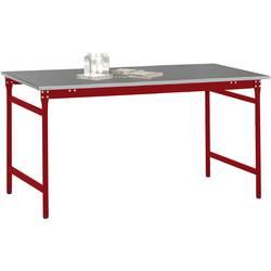 Manuflex BB3014.3003 Servírovací stolek základní stacionárně s plech krytina deska ve rubínově červená RAL 3003, Šxhxv: 1000 x 600 x 780 mm