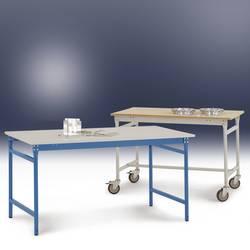 Manuflex BB3007.5012 Servírovací stolek základní stacionárně s plastovým stolní deska ve světle modrá RAL 5012, Šxhxv: 750 x 500 x 780 mm