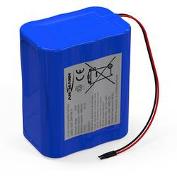Akupack - sada nabíjacích batérií Li-Ion akumulátor 6 18650 s káblom Ansmann 2447-3050-03, 5200 mAh, 11.1 V