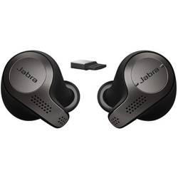 Náhlavní sada stereo s Bluetooth stereo, bez kabelu Jabra Evolve 65t MS do uší černá