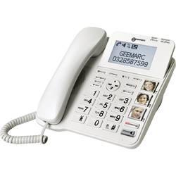 Šňůrový telefon pro seniory Geemarc CL595 záznamník, handsfree, optická signalizace hovoru, kompatibilní s naslouchadly , vč. nouzového terminálu, se základnou