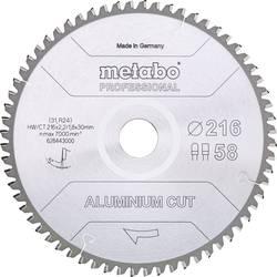 Pilový list hliníkové Cut Professional Metabo 628443000 Průměr: 216 mm Počet zubů (na palec): 58 Tloušťka:1.8 mm