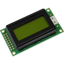 LCD displej Display Elektronik DEM08202SYH-LY, (š x v x h) 58 x 32 x 10.5 mm, žlutozelená