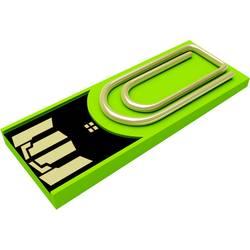 USB flash disk Xlyne Clip/Me AutoID_3168968, 8 GB, USB 2.0, zelená