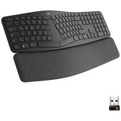 Klávesnice Logitech Ergo K860, ergonomická, podložka pod zápěstí, černá