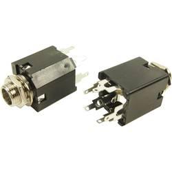 Jack konektor 6.35 mm Cliff FM6700 FM6700 zásuvka, vestavná vertikální, pólů 3, 1 ks, stereo