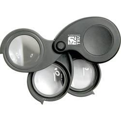 3 čoček lupa 27 mm 5/10/15 násobný TRU COMPONENTS Magnifier5.10.15x (d x š x v) 61 x 42 x 28 mm