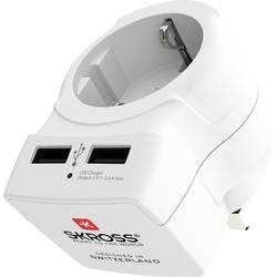 Cestovní adaptér Skross Europe to UK USB (Bulk) 1500280-1
