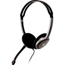 Headset k PC jack 3,5 mm stereo V7 Videoseven Boom MIC na uši