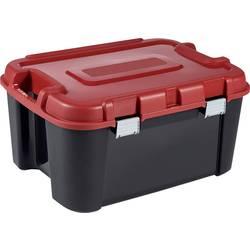 Box na součástky KETER, TOTEM, 243935, 797 x 408 x 597, černá, červená