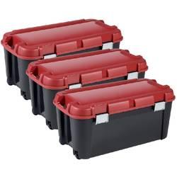Box na součástky KETER, TOTEM, 243855, 794 x 371 x 396, černá, červená