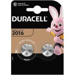 Knoflíkový článek CR 2016 lithiová Duracell Elektro 2016 90 mAh 3 V 2 ks