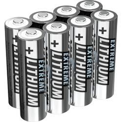 Tužková baterie AA lithiová Ansmann FR06, 2850 mAh, 1.5 V, 8 ks