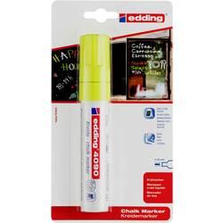 Edding 4090, 4-4090-1-1065 křídový popisovač , 4 mm, 15 mm, neonově žlutá