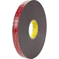 Oboustranná lepicí páska 3M 5962F/2533 7100211840, (d x š) 33 m x 25 mm, černá, 33 m
