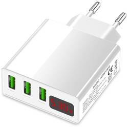 USB nabíječka se 3 kapkami a ukazatelem napětí