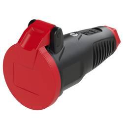 Zásuvka PCE 2512-sr, guma, plast, IP54, 230 V, černá, červená