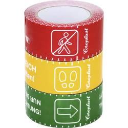 Podlahová značkovací páska Coroplast 1466 SDR 217111, (d x š) 25 m x 60 mm, červená, žlutá, zelená, 3 ks