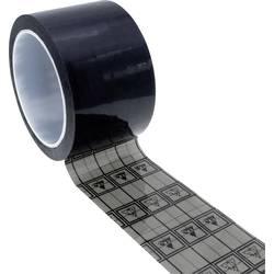 ESD lepicí páska Quadrios 2010EC132, (d x š) 33 m x 19 mm, 1 ks, černá, transparentní