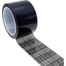 ESD lepicí páska Quadrios 2010EC133, (d x š) 33 m x 50 mm, 1 ks, černá, transparentní