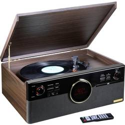 USB gramofon Technaxx TX-137, řemínkový pohon, hnědá (vzhled ušlechtilého dřeva matná)