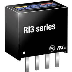 DC/DC měnič napětí do DPS RECOM RI3-1205S, 600 mA, 3 W, Počet výstupů 1 x