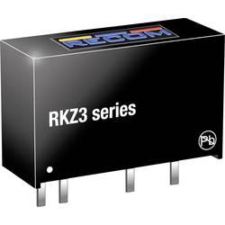 DC/DC měnič napětí do DPS RECOM RKZ3-0505S, 600 mA, 3 W, Počet výstupů 1 x