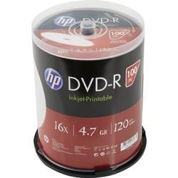 DVD+R 4.7 GB HP DME00029WIP, s potiskem, 100 ks, vřeteno