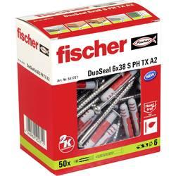 Hmoždinka Fischer DuoSeal 557727, Vnější délka 38 mm, Vnější Ø 6 mm, 50 ks