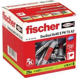 Hmoždinka Fischer DuoSeal 557728, Vnější délka 48 mm, Vnější Ø 8 mm, 25 ks
