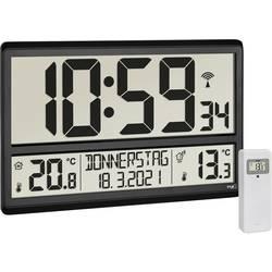 DCF nástěnné hodiny TFA Dostmann Digitale XL-Funkuhr mit Außen- und Innentemperatur 60.4521.01, černá