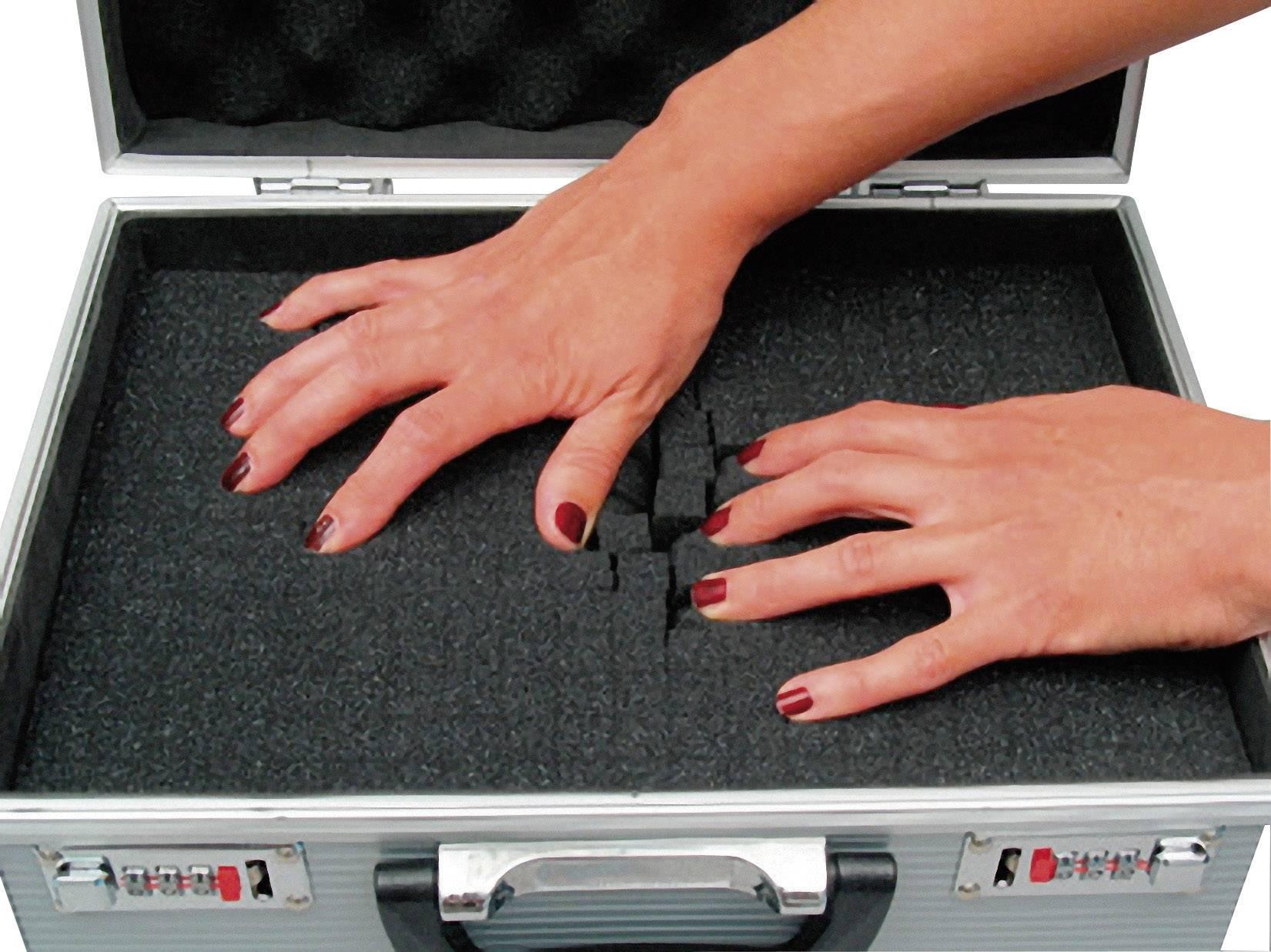 Hliníkový kufor s penovou výplňou Viso STC931P, 455 x 330 x 150 mm
