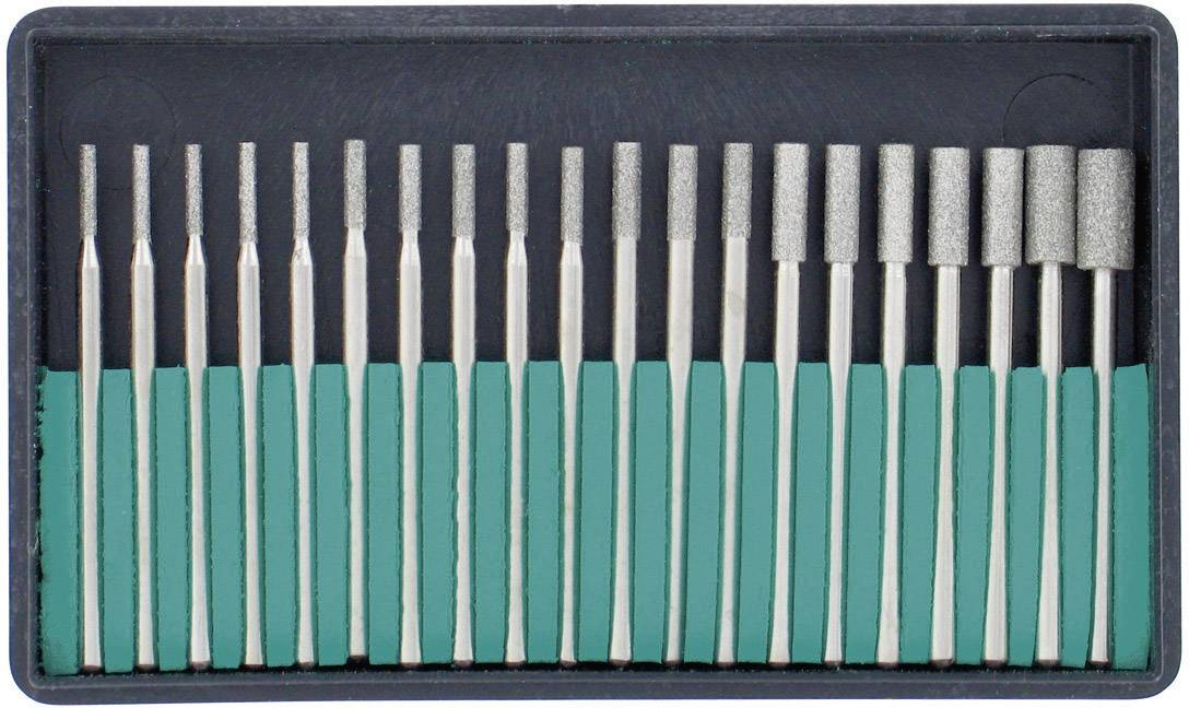 Súprava valcových brúsnych hlavičiek s diamantovým povrchom RONA, 20 ks