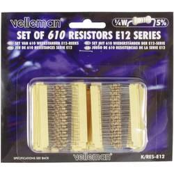 Sada uhlíkových rezistorů Whadda K/RES-E12, axiální, 0.25 W, 1 sada