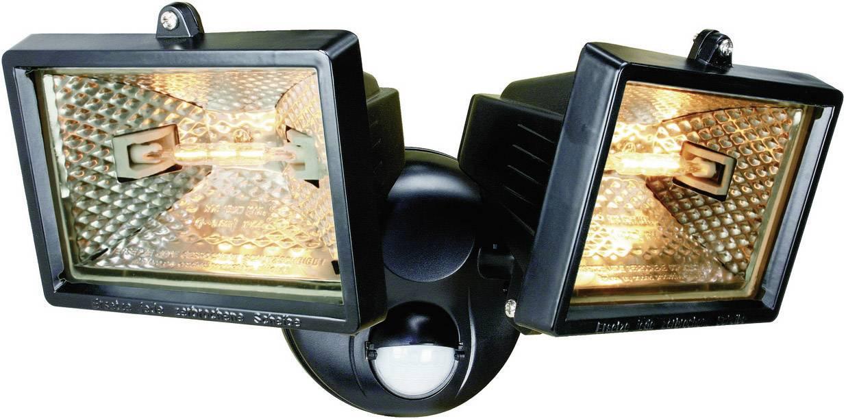 Vonkajšie halogénové svietidlo ELRO, s PIR senzorom, 120 W, čierne