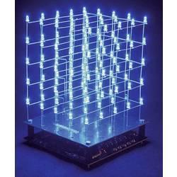 3D LED kostka Velleman K8018B, 9 V, stavebnice, modrá