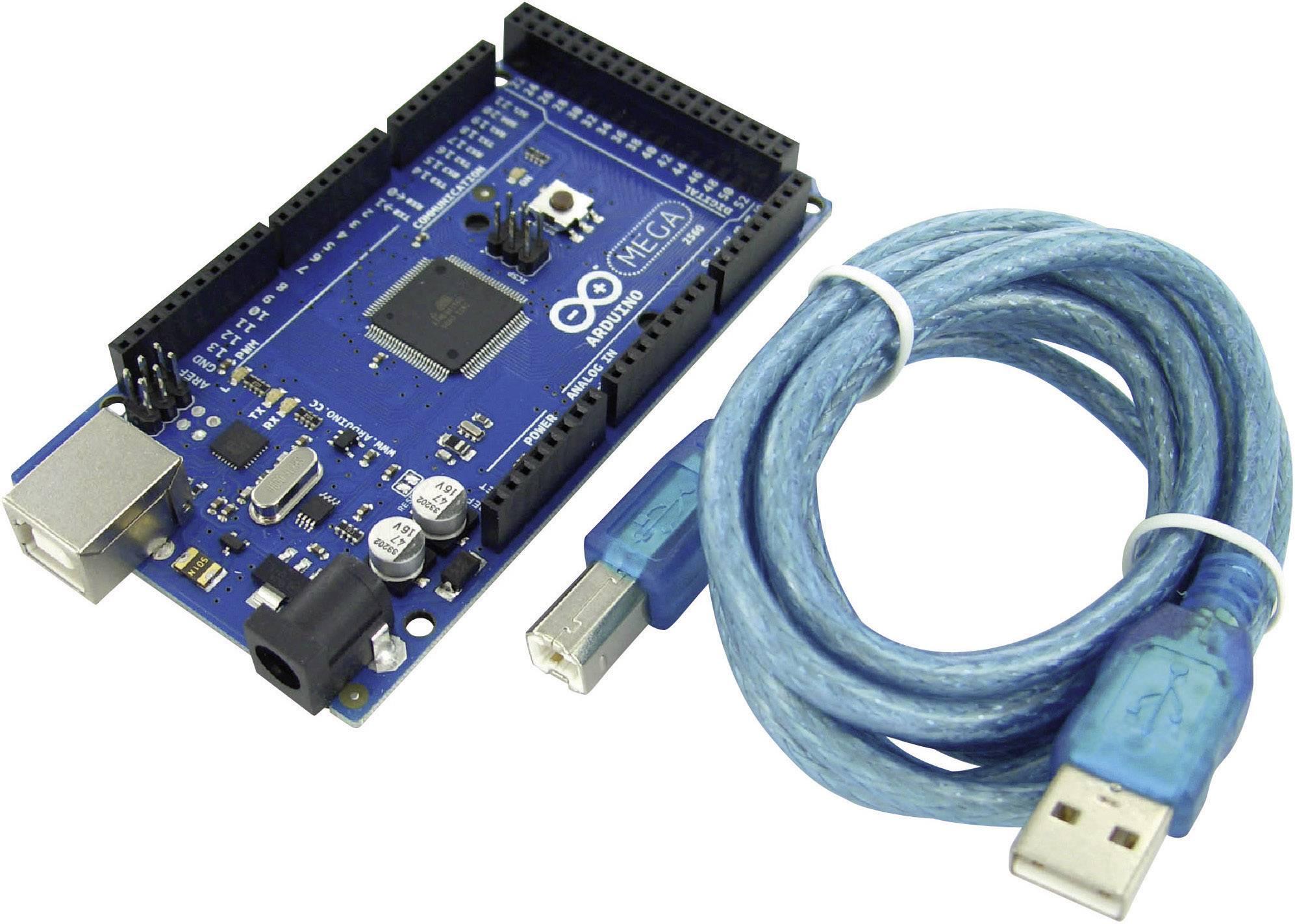 Vývojová doska Arduino Pro Mega 2560 REV3 s USB káblom,