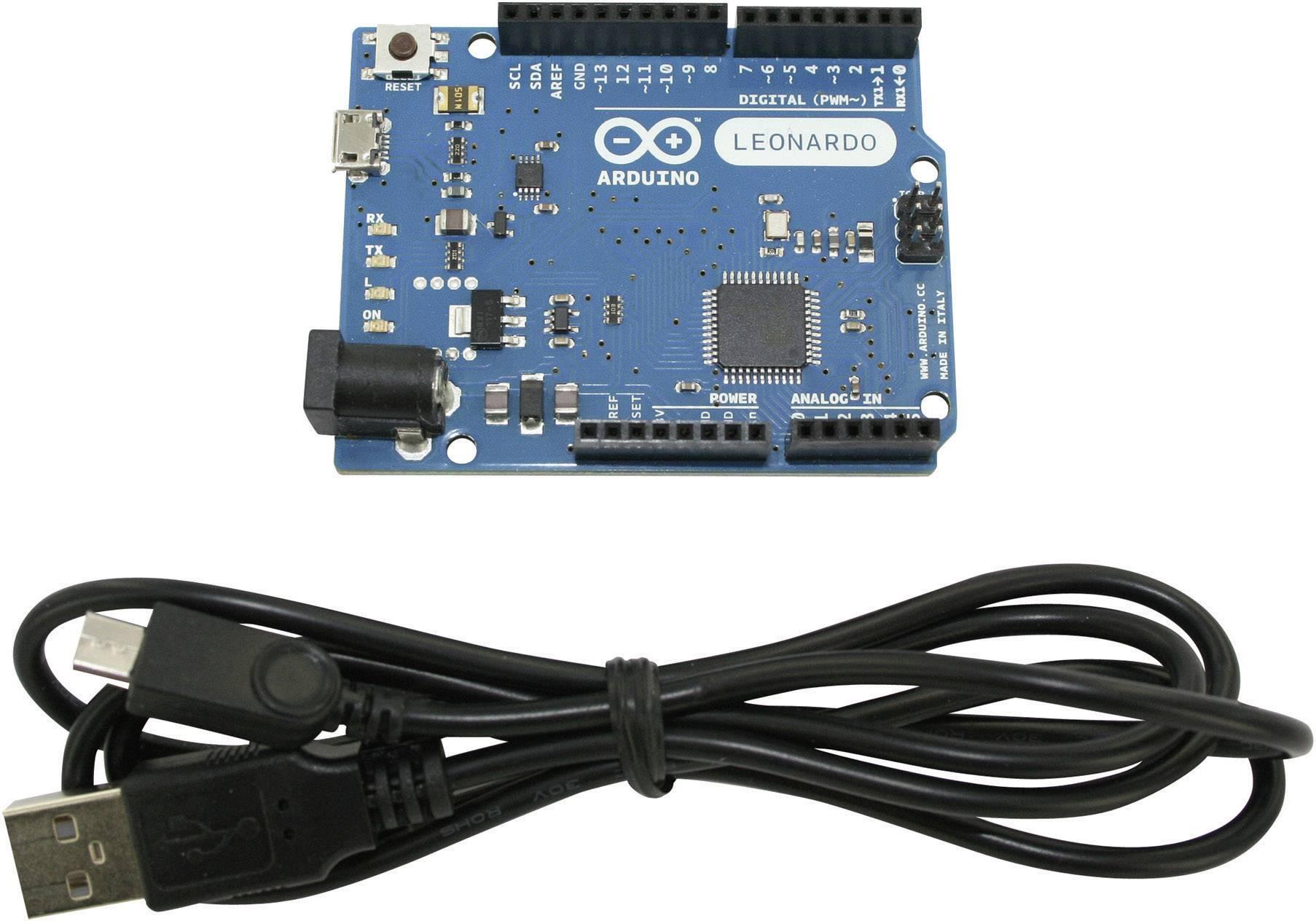 Vývojová doska Arduino DVAR-A000057 s USB káblom,