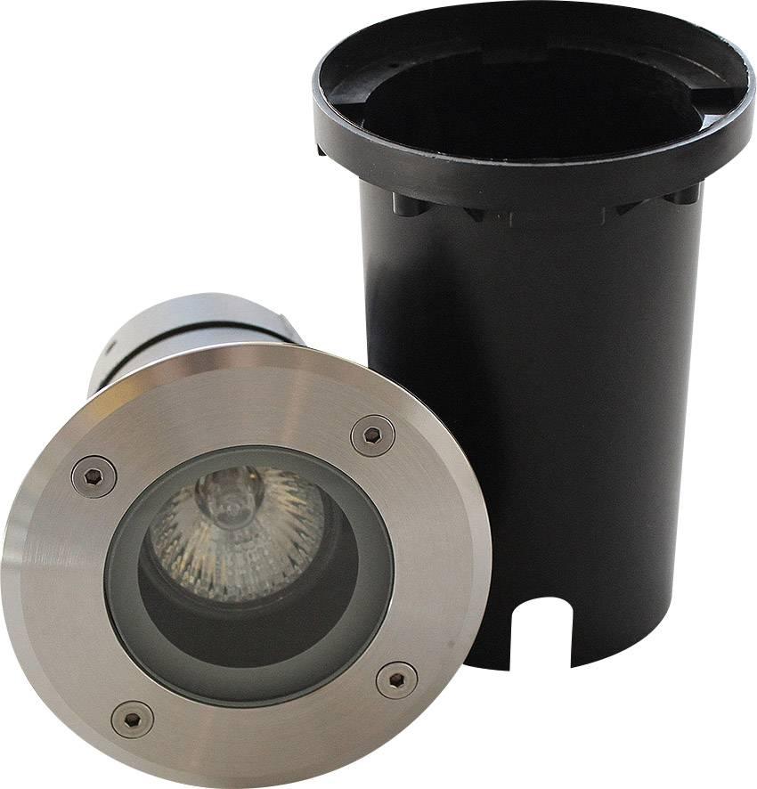Venkovní vestavné LED svítidlo ECO Light 7005, GU10, 35 W, stříbrná