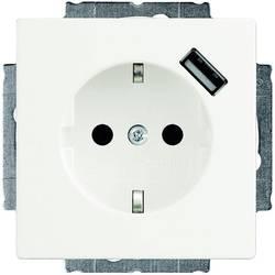 Busch-Jaeger vestavný zásuvka s ochranným kontaktem, USB zásuvka Solo, Future Linear, Axcent bílá 20 EUCBUSB-84