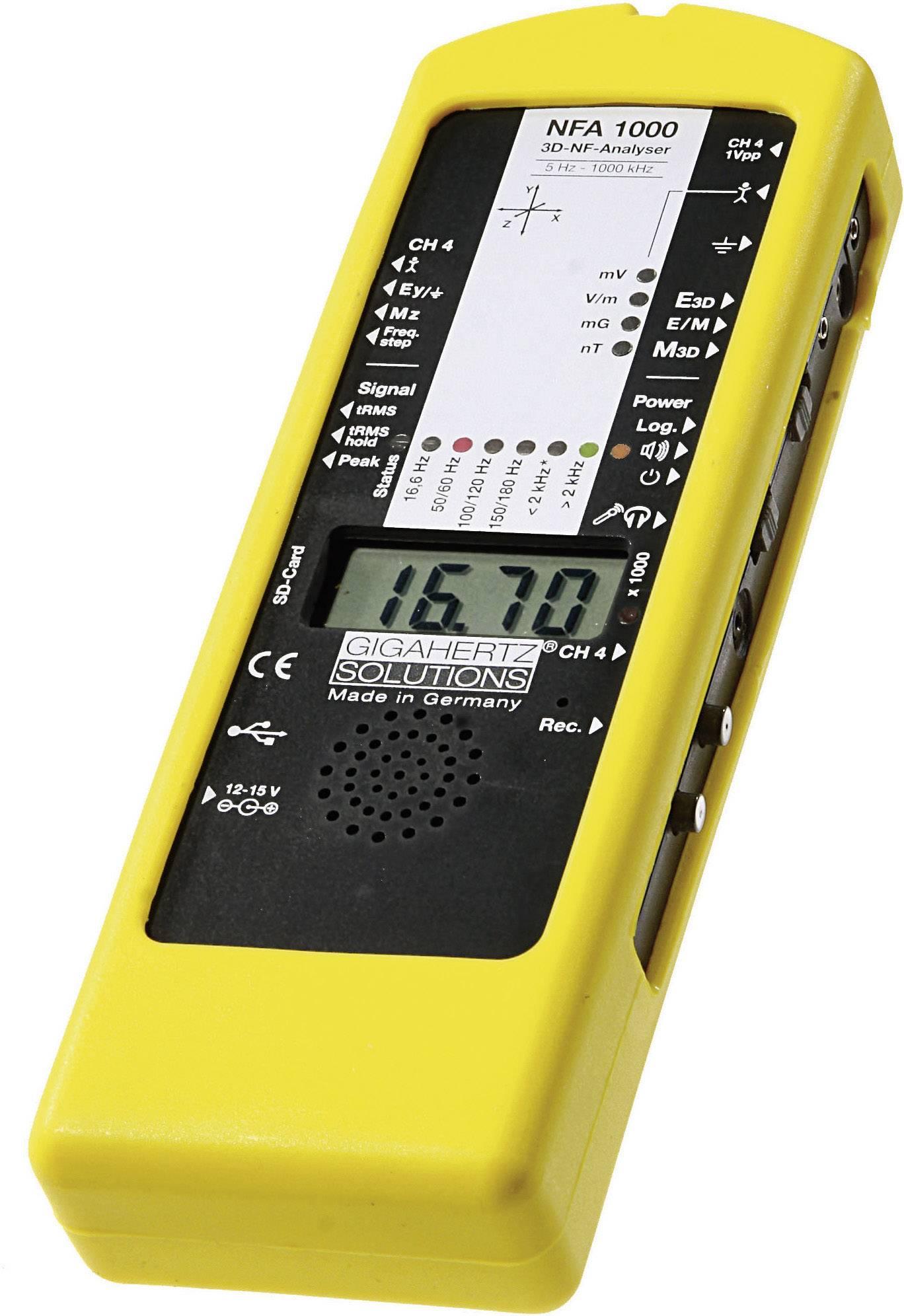 NF analyzátor elektrosmogu Gigahertz NFA1000 3D, 5 Hz - 1000 kHz