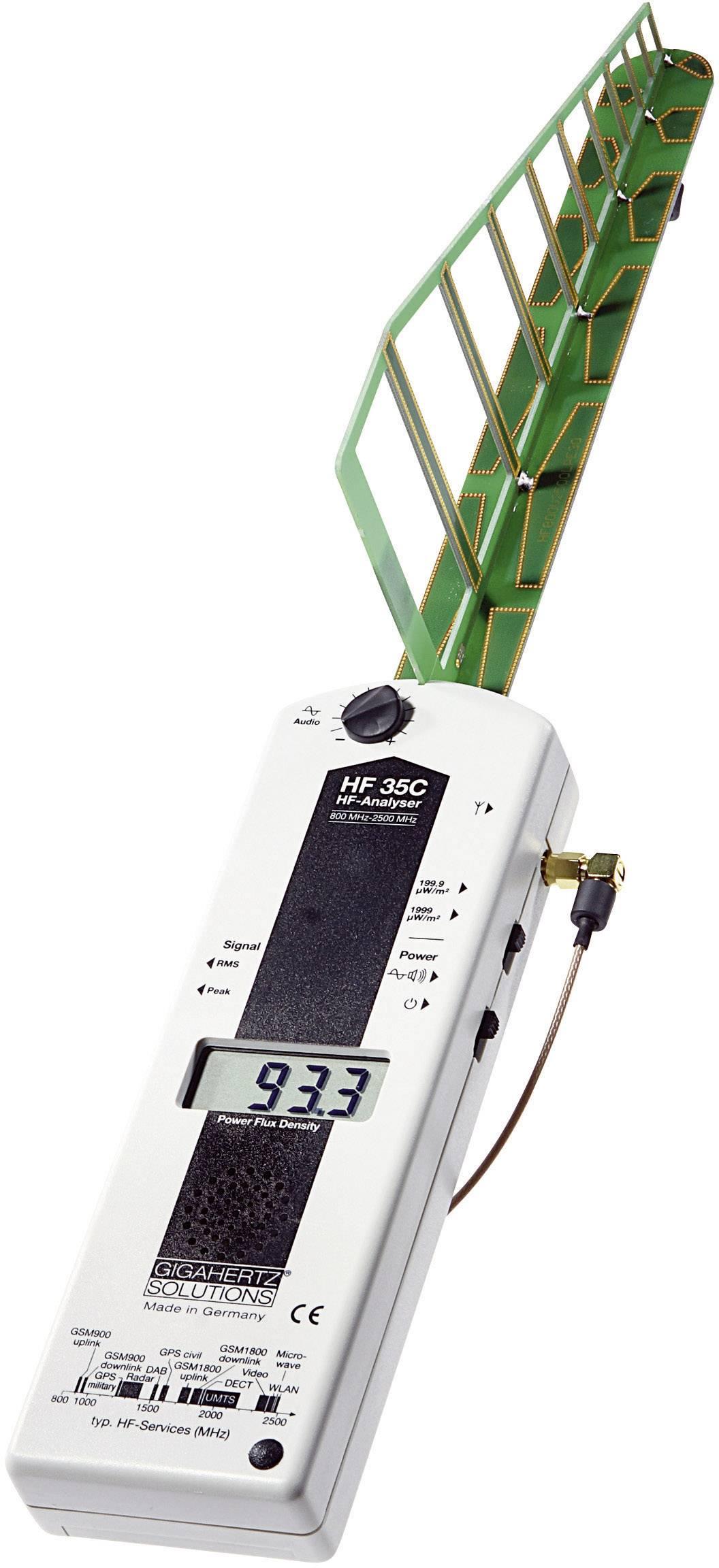 VF analyzátor Gigahertz Solutions HF35C pro měření elektrosmogu, 800 MHz - 2,7 GHz