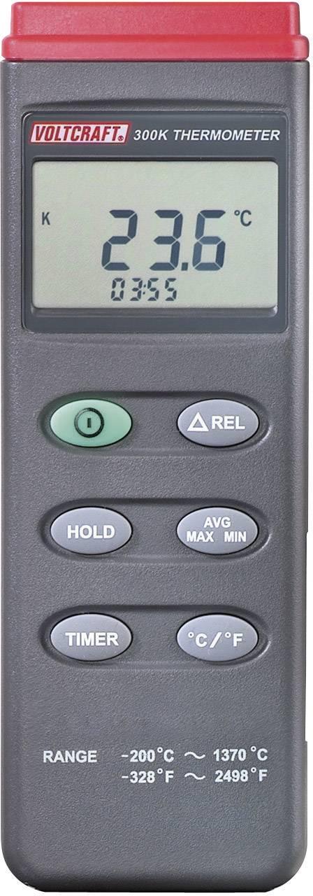 Teploměr VOLTCRAFT K201 K201, -200 až +1370 °C, typ senzoru K, Kalibrováno dle: ISO