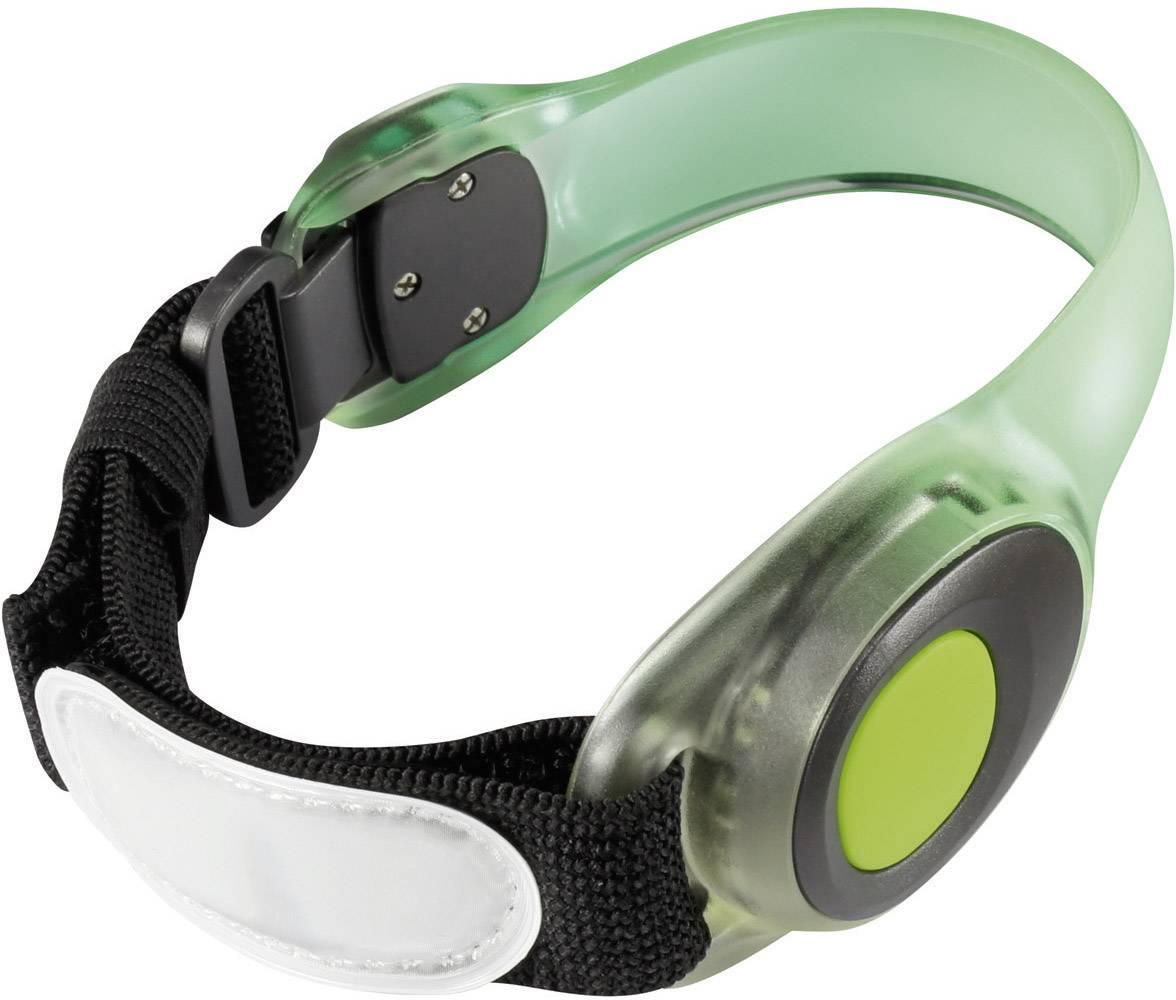 Bezpečnostné svetlo s náramkom Meteor, zelená LED