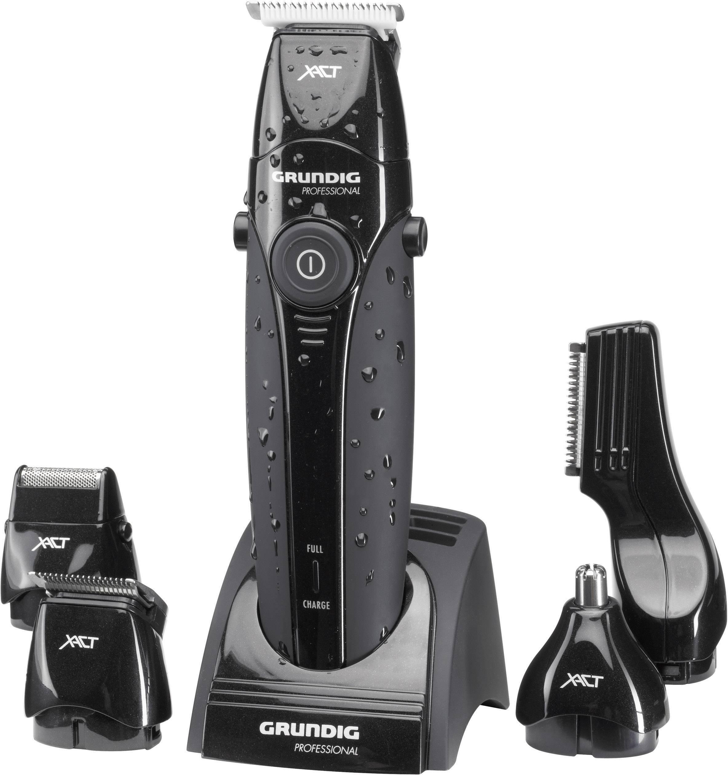 Zastrihávač vlasov, zastrihávač fúzov, zastrihávač ochlpenia Grundig MT8240, omývateľný, čierna