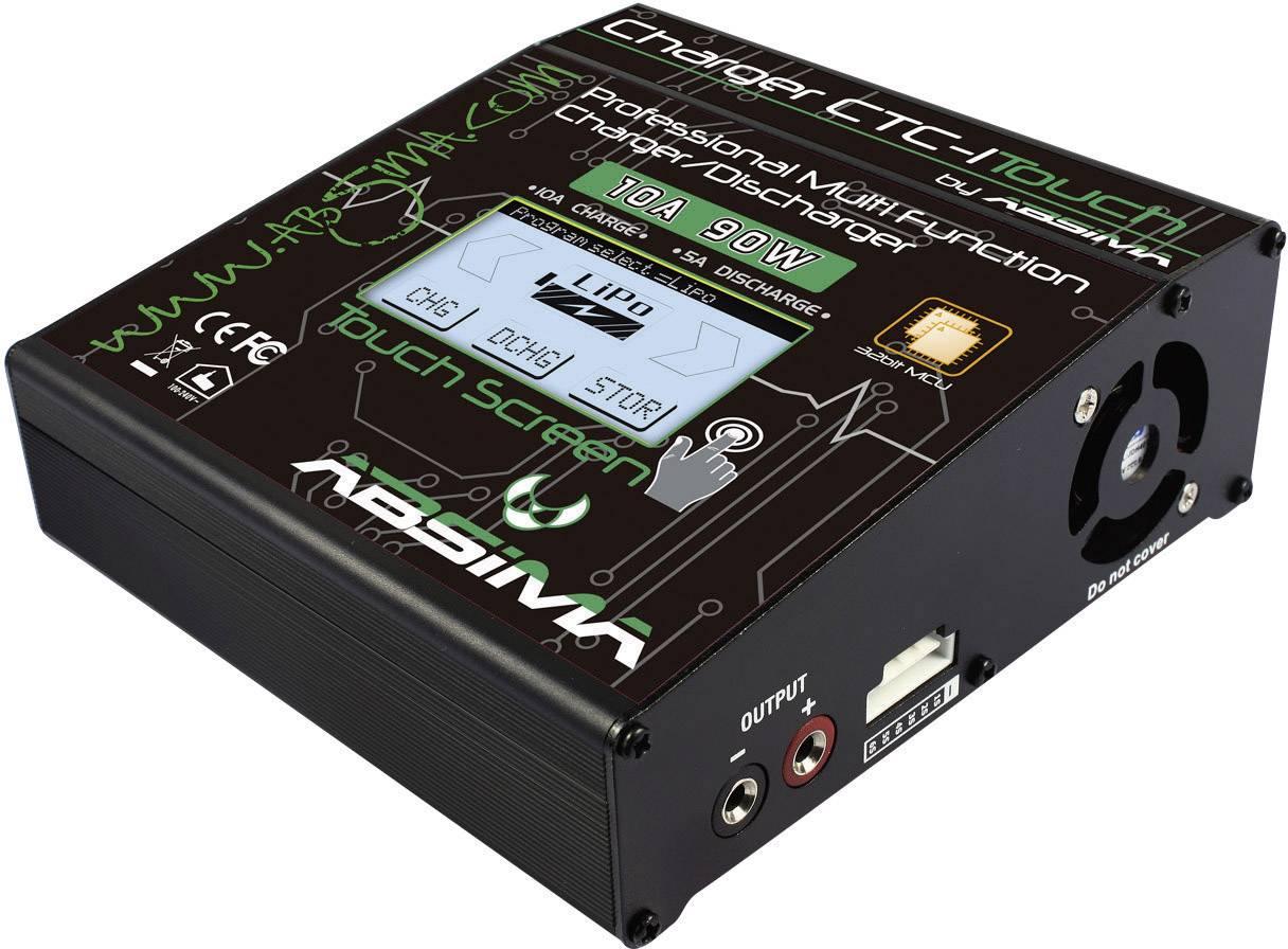 Modelářská multifunkční nabíječka Absima CTC-1 Touch 4000021, 110 V, 220 V, 12 V, 18 V, 10 A