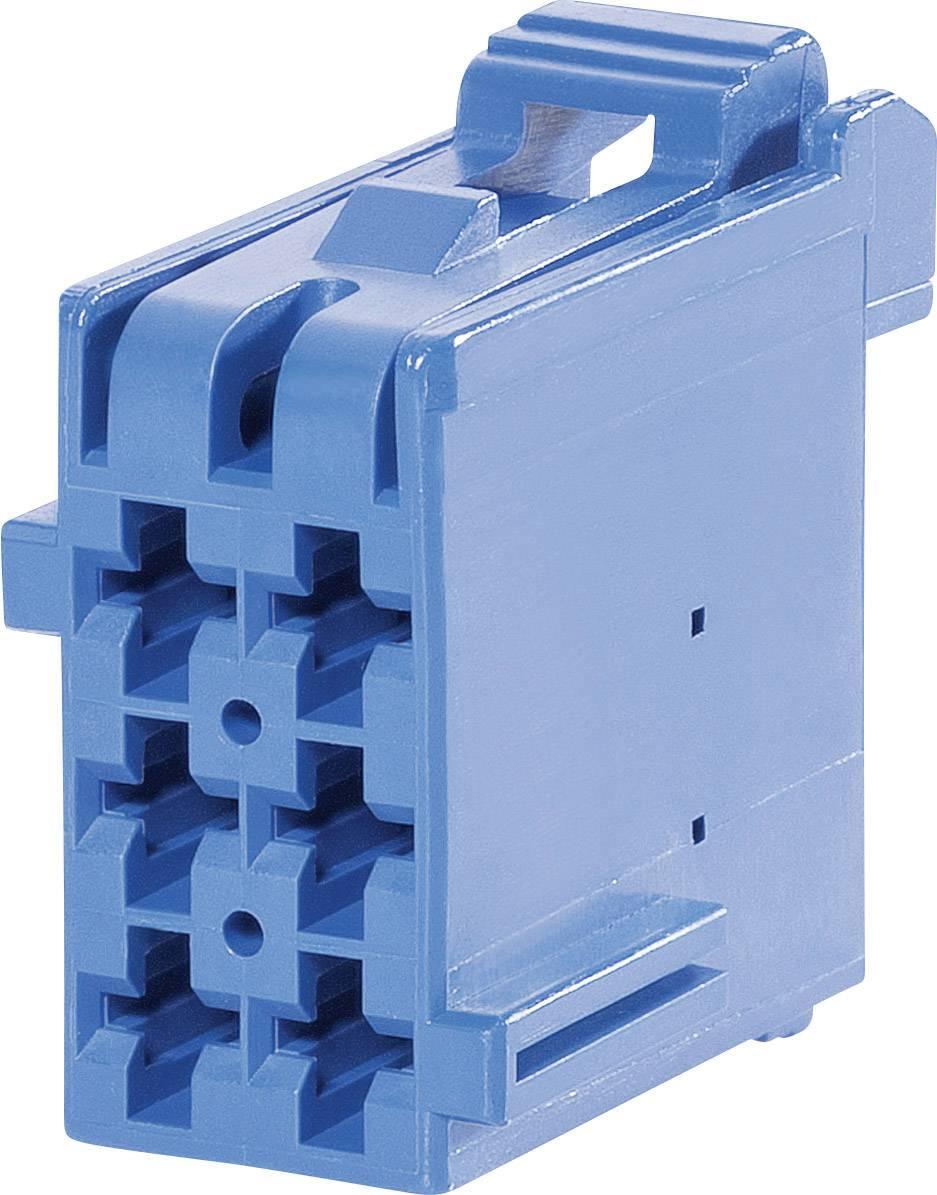 Zásuvkové púzdro na kábel TE Connectivity J-P-T 1-965640-3, 26.5 mm, pólů 6, rozteč 5 mm, 1 ks