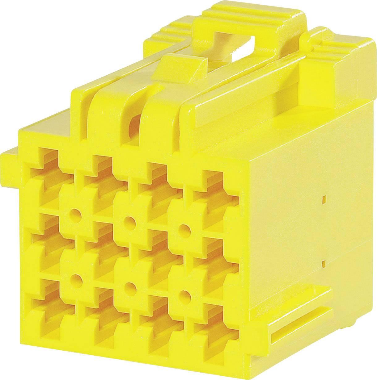Zásuvkové púzdro na kábel TE Connectivity 1-967622-3, počet pólov 12, raster 5 mm, 1 ks